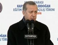 AÇILIŞ TÖRENİ - Cumhurbaşkanı Erdoğan'dan babasının hikayesi