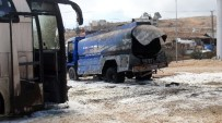 MAZOT TANKERİ - Gaziantep'te Boş Tanker Patladı