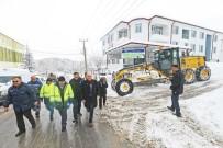 OKMEYDANı - Başkan Kamil Saraçoğlu, Kar Küreme Çalışmalarını Yerinde İnceledi