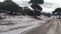 SOĞUK HAVA DALGASI - Milas'ın Yüksel Kesimlerinde Kar Yağışı Etkili Oldu