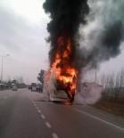 SAKARLı - Samsun'da Yolcu Otobüsü Alev Alev Yandı