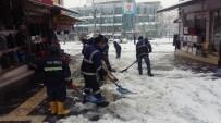 KÖY YOLLARI - Kar Yağışı Develi'de Etkili Oldu