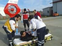 AMBULANS HELİKOPTER - Kalp Krizi Geçiren Vatandaşın Yardımına Ambulans Helikopter Yetişti