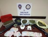 KURUSIKI TABANCA - Denizli'de Uyuşturucu Operasyonu Açıklaması 6 Tutuklama