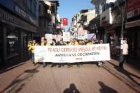 Bartın'da '112 Hattını Meşgul Etme, Yaşama Yol Ver' Yürüyüşü
