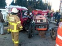 TAHKİKAT - Havran'da Traktör İle Kamyonet Çarpıştı Açıklaması 1 Yaralı