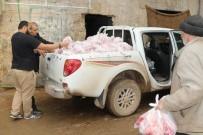 İNSANI YARDıM VAKFı - İHH Dabık'ta 400 Aileye Akika-Adak Eti Dağıttı