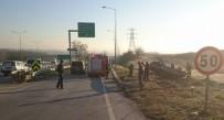 TAHKİKAT - Özel Otomobil Otobanda Takla Attı Açıklaması 3 Yaralı