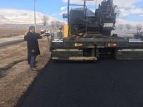 SEYRANI - Develi'de Soğuk Havaya Rağmen Asfaltlama Çalışmaları Devam Ediyor