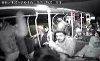 Devrilen Otobüste Yaşanan Panik Kameraya Yansıdı