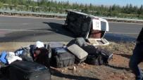 HARRAN ÜNIVERSITESI - İşçileri Taşıyan Minibüs Devrildi Açıklaması 13 Yaralı