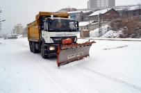 KAR KALINLIĞI - Karabük'te Kar Mücadelesi