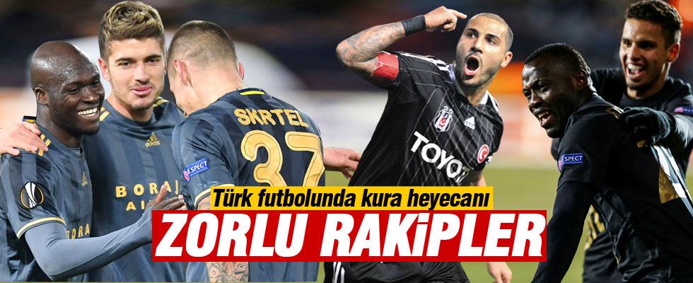 Beşiktaş F.Bahçe ve Osmanlı'nın muhtemel rakipleri
