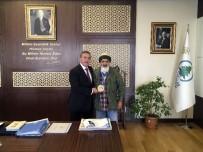AHMET ÖZDEMIR - Dünya Judo İkincisi Özdemir'den Başkan Çetin'e Ziyaret