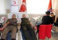İL JANDARMA KOMUTANLIĞI - İl Jandarma Komutanlığında Kan Bağışı