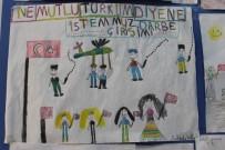 MEHMET TURAN - Öğrenciler, Resimlerle 15 Temmuz Darbesini Anlattı