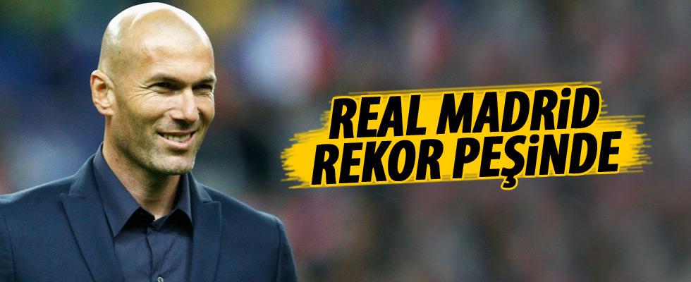 Zidane yönetimindeki Real Madrid rekor peşinde