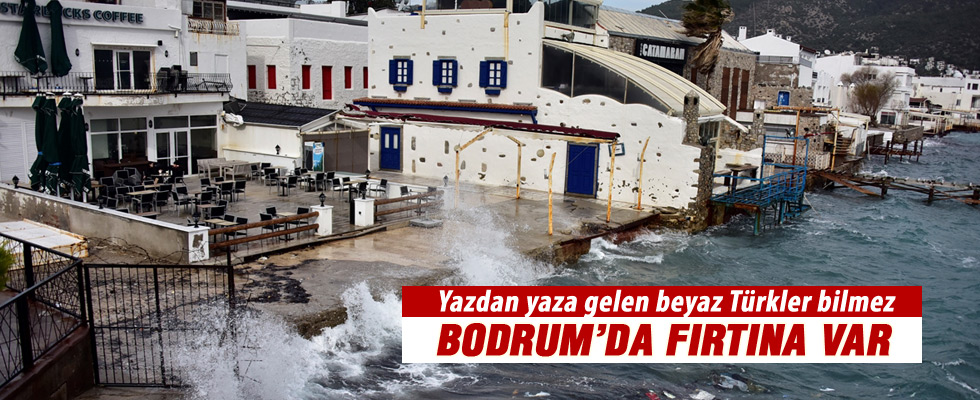 Bodrum'da Kuvvetli Rüzgar