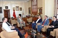 BEYAZ AY DERNEĞI - Beyaz Ay Derneği Başkanı Ayva, Başkan Yılmaz'ı Ziyaret Etti