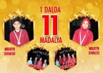 GÖKÇEN YıLMAZ - Malatya Çınar Koleji Öğrencileri, Modern Pentatlon Yarışmasında Dereceye Girdi