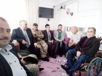 MUSTAFA BAŞ - Besni Gazisi Hüseyin Deniz'i, İlçe Protokolü Ziyaret Etti
