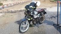 KARAGEDIK - Seyir Halindeki Motosiklet Alev Aldı