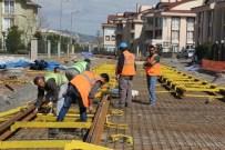 HANLı - Tramvayın Ray Montajı Çalışmaları Sürüyor