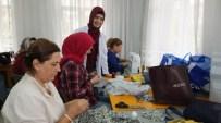 Burhaniye'de Kadın Kursiyerler Sergiye Hazırlanıyor