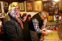 EBRU SANATı - Yaşlılar Ebru Sanatının Sırlarını Öğrendi