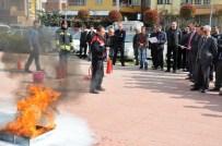 KAYTAZDERE - Altınova Kaymakamlığı'nda Yangın Tatbikatı