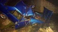 NEBIOĞLU - AT Sürüsüne Çarpan Sürücü Ağır Yaralandı