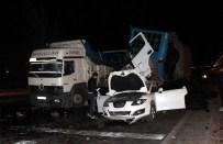 İSTANBUL YOLU - Tır, kırmızı ışıkta bekleyen dört aracı biçti 2 yaralı