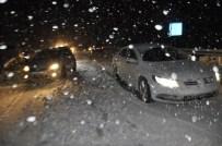 İNLICE - Seydişehir'de Araçlar Kar Nedeniyle Yolda Kaldı