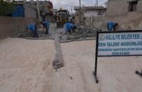 KONUKLU - Konuklu Kırsal Mahallesinde Parke Yapım Çalışmaları Devam Ediyor