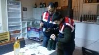 YENIMUHACIR - Milyonluk Kaçak Şarap Üretim Tesisine Jandarmadan Ağır Darbe
