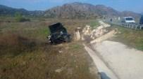 HACıHAMZA - Otomobil Menfeze Uçtu Açıklaması 1 Yaralı