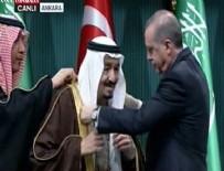 DEVLET NİŞANI - Erdoğan Kral Selman'a devlet nişanı taktı