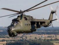 SAVAŞ HELİKOPTERİ - Suriye'de Rus helikopteri düştü