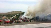 Başkent'te askeri bölgede yangın