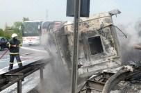 AHMET KESKIN - Kömür Yüklü Tır Devrildi, Sürücü Yanarak Can Verdi
