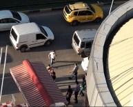 Alkollü şahıstan polise tokmaklı saldırı