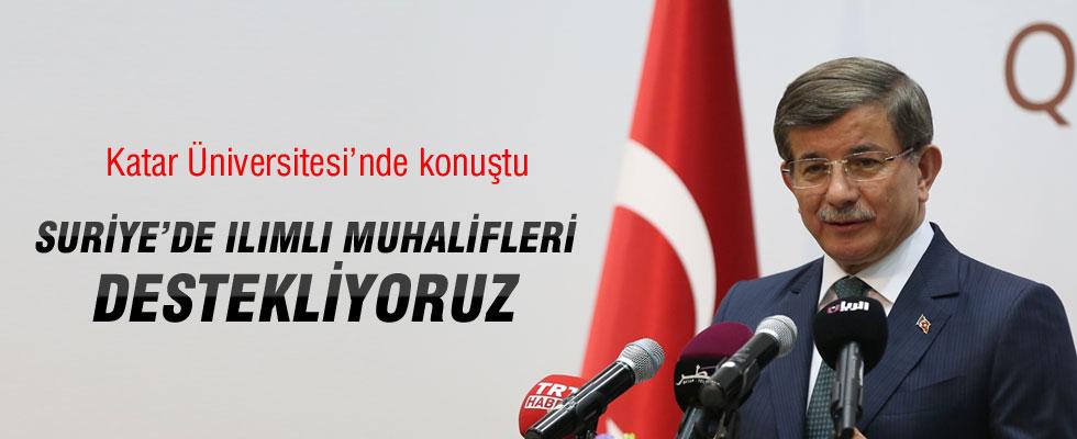 Başbakan Davutoğlu: Suriye'de Ilımlı Muhalifleri Destekliyoruz