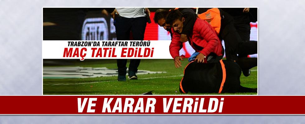 Olaylı Trabzonspor - Fenerbahçe maçı için karar verildi