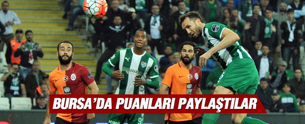 Galatasaray 1 - 1 Bursaspor