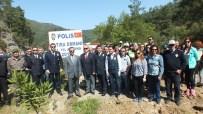 ERGUVAN AĞACI - Marmaris'te Şehit Polisler Anısına Hatıra Ormanı Oluşturuldu