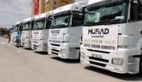 YARDIM KONVOYU - MÜSİAD Ve İyilikder'den Suriye'ye 11 Tır Yardım