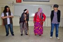GÜRLEK - Arslanköy Tiyatro Topluluğu, Lise Öğrencileri Ve Köy Kadınları İçin Oynadı