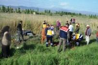 Seydişehir'de Otomobil Sulama Kanalına Uçtu Açıklaması Üç Yaralı