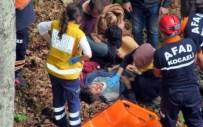 Ormanda Odun Kesen Genç 30 Metrelik Uçuruma Yuvarlandı