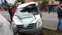 MİNİBÜS KAZASI - Samsun'da minibüs kazası: 1 ölü, 6 yaralı